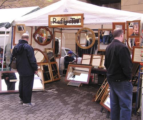 Reflectas Stall, Salamanca Markets