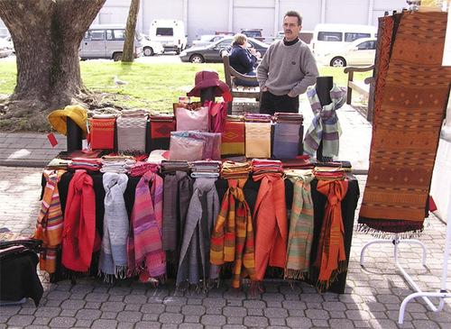 Scarf Stall, Salmanca Markets