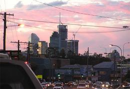 Ipswich Road at dusk
